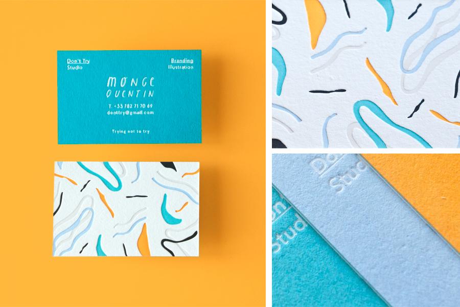 business card foil letterpress colorplan pattern foiling