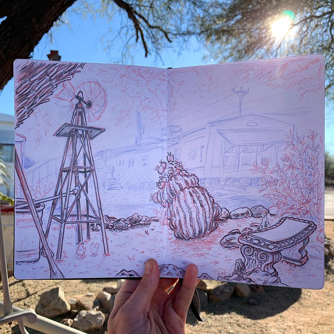 arizona cuba drawing on location germany ILLUSTRATION  Illustrator London New York sketchbook Travel
