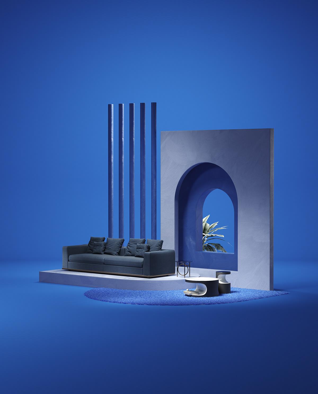 set design  design ArtDirection CGI italia furniture magazine