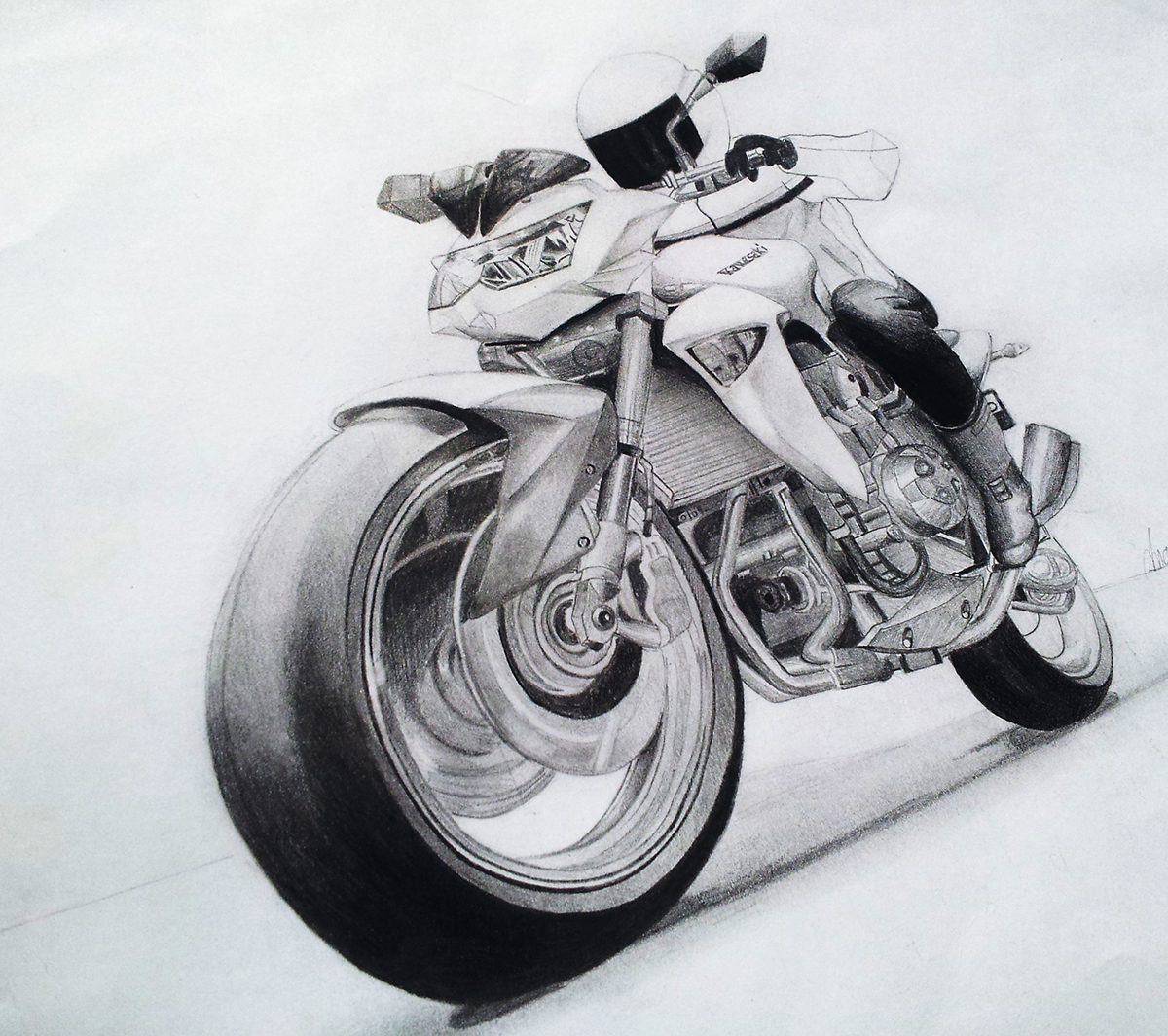 Drawing Motorcycle | Pencil on Behance