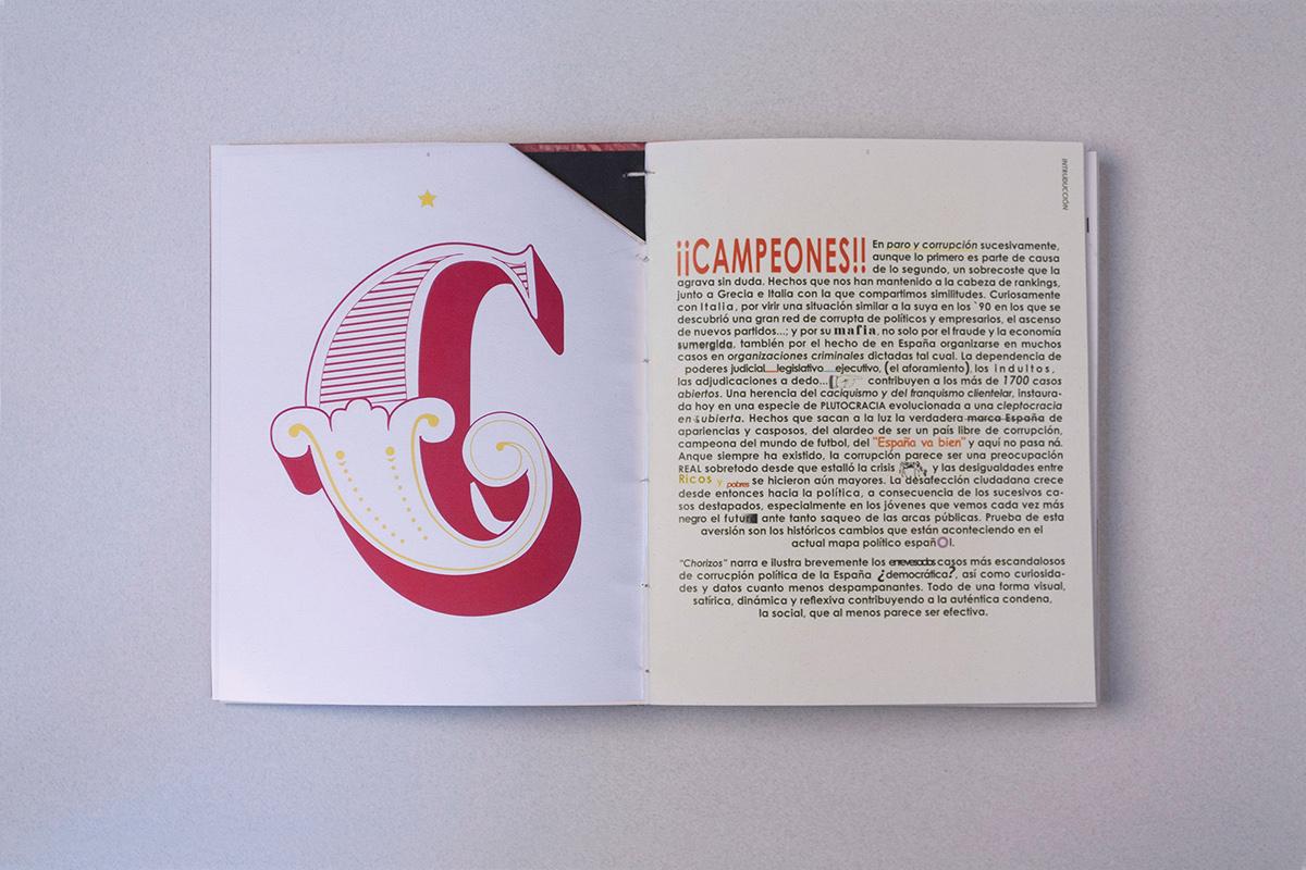 LIBRO EXPERIMENTAL diseño experimental Investigación y diseño Politica Corrupción españa encuadernación artesanal copta cosido lettering
