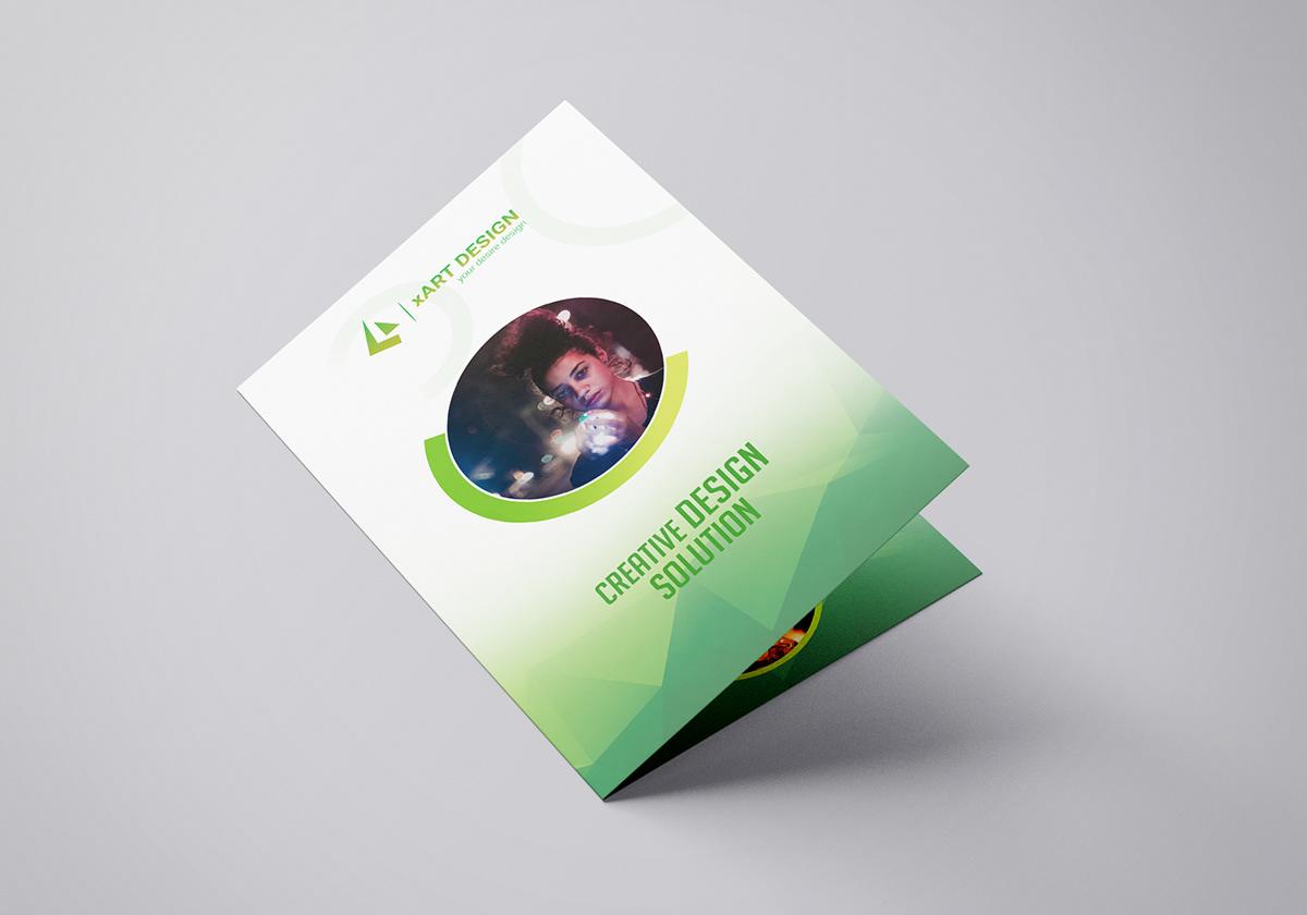 creative bi fold brochure design on pantone canvas gallery