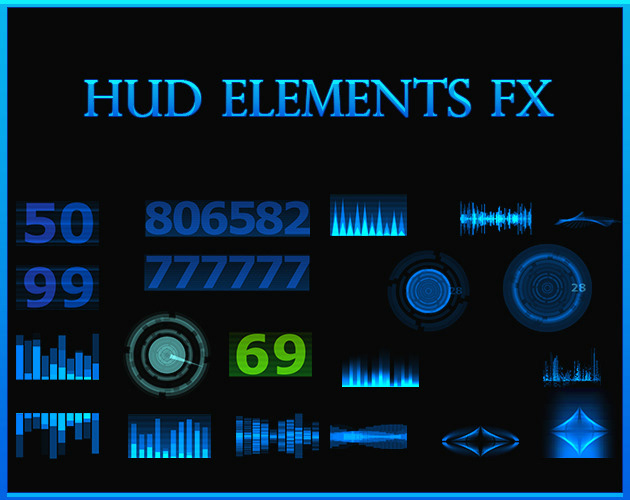 HUD light fx game effects Isolated lights Magic   sci-fi particles effects Sprite