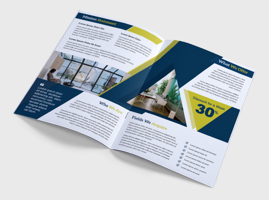 a4 A4 bi-fold brochure A4 multi-page multi-page multi-page brochure 8 page brochure Company Brochure agency brochure red-white corporate business brochure nice modern Eye-Catching popular