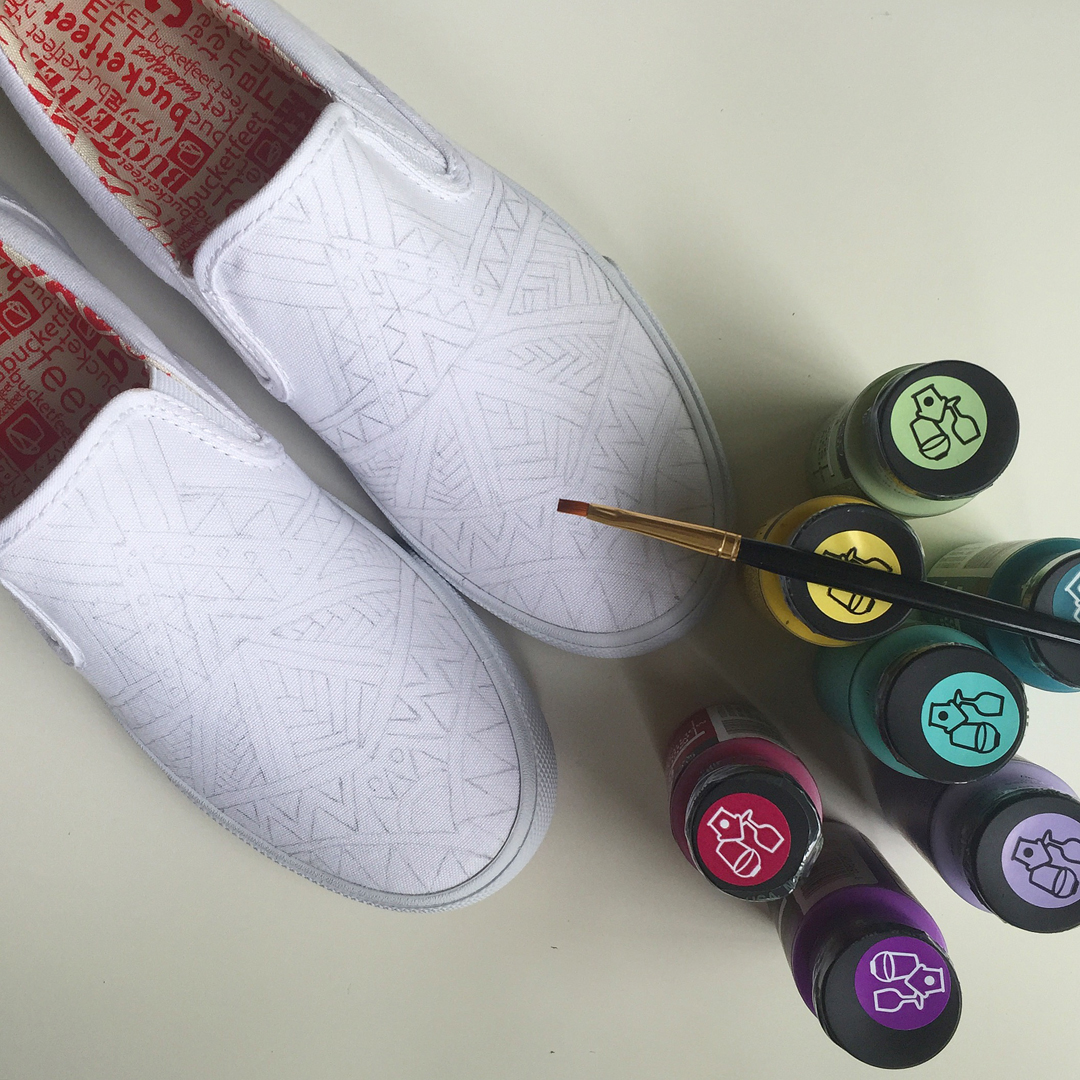 Hand painted Bucketfeet Shoes on Behance