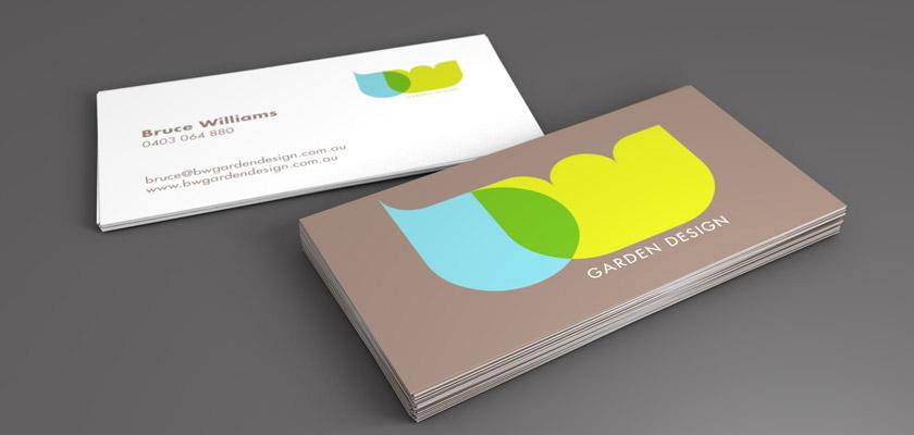 williams garden design logo website and business stationery