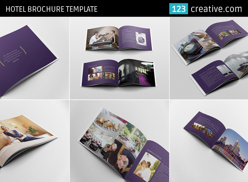 Hotel Brochure Template InDesign Photoshop On Behance - Brochure template for indesign