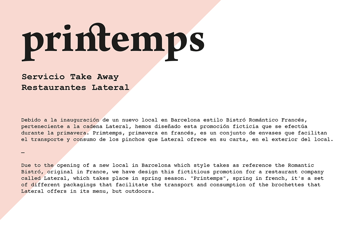 printemps take away on behance