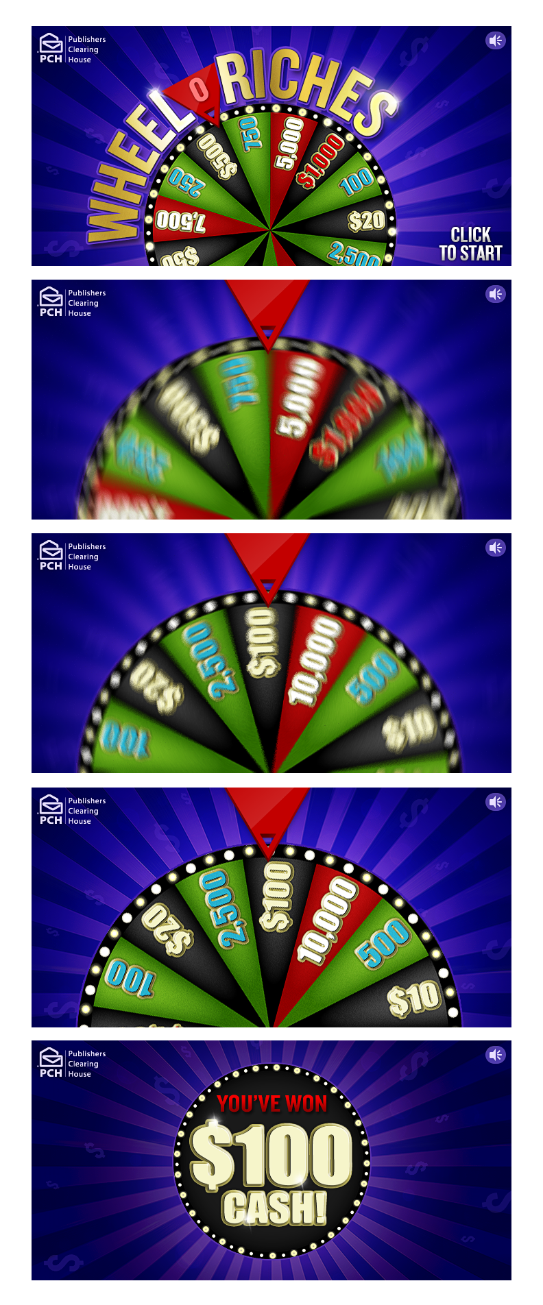 Instant Win Games-Wheel o Riches on Behance