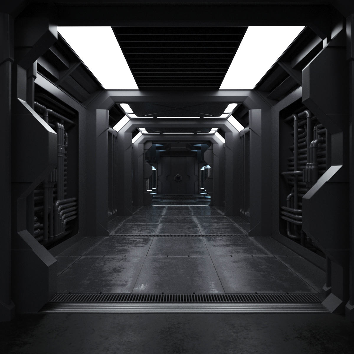 Spaceship Interior On Behance