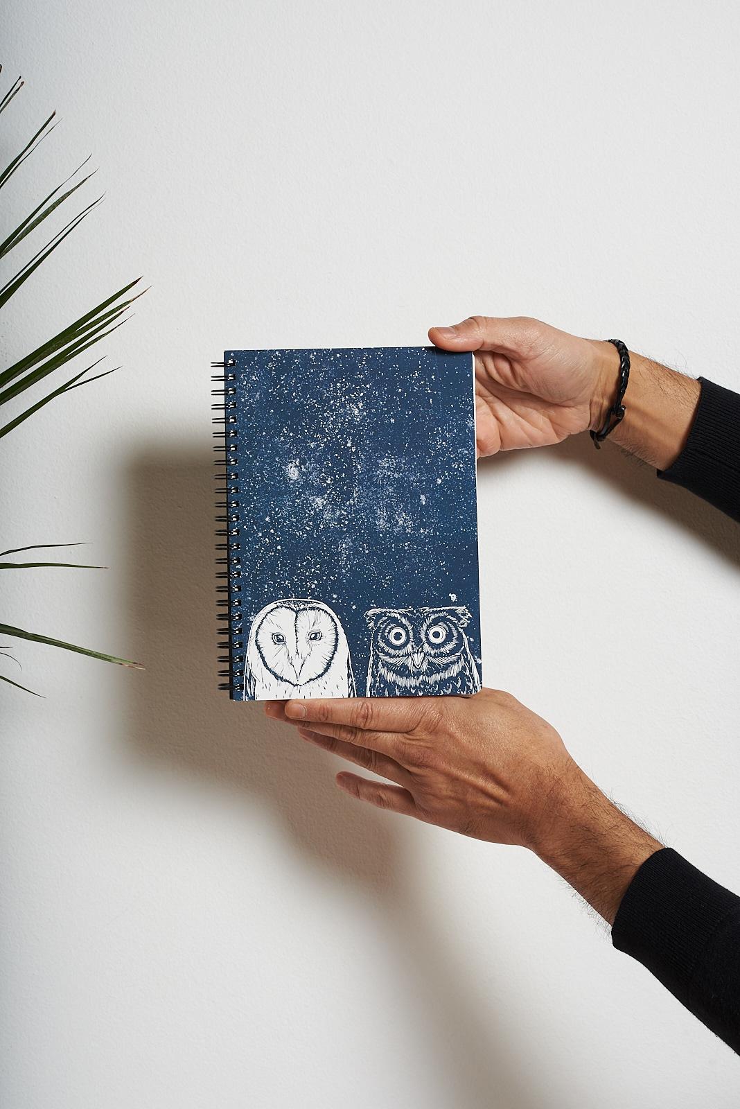 ilustracion naturaleza sellos carvado craft art agenda libreta Colaboración