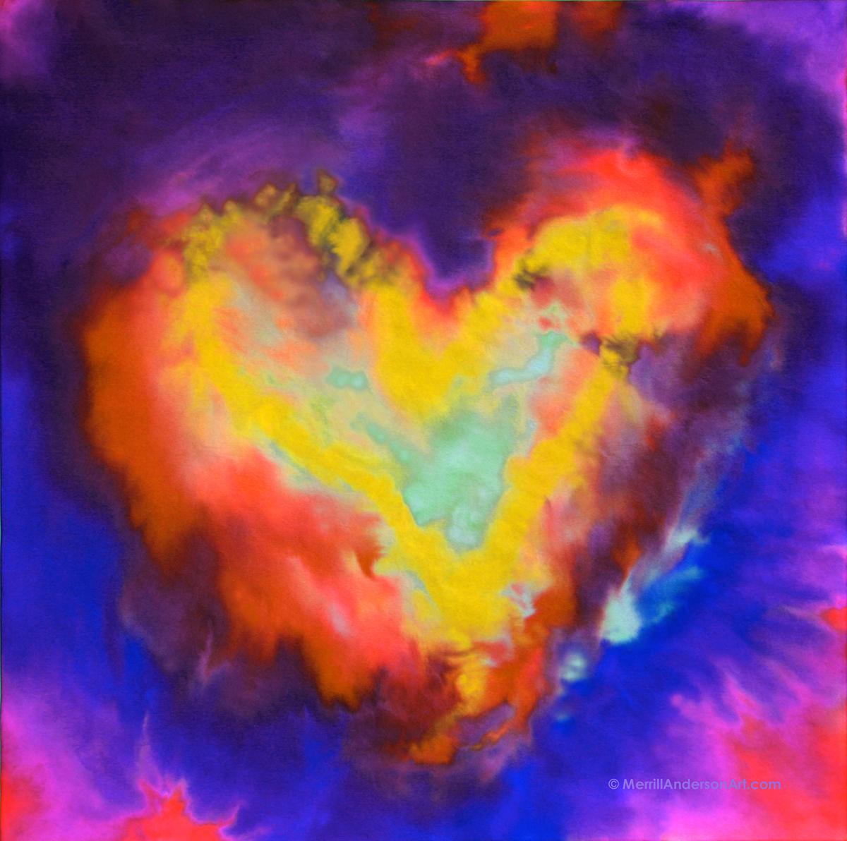 Adobe Portfolio hearts Love childlike inspiration cards screensavers Paintings valentines