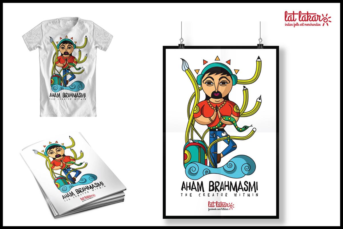 Merchandise Inspired by Indian Folk Art Illustrations on Behance