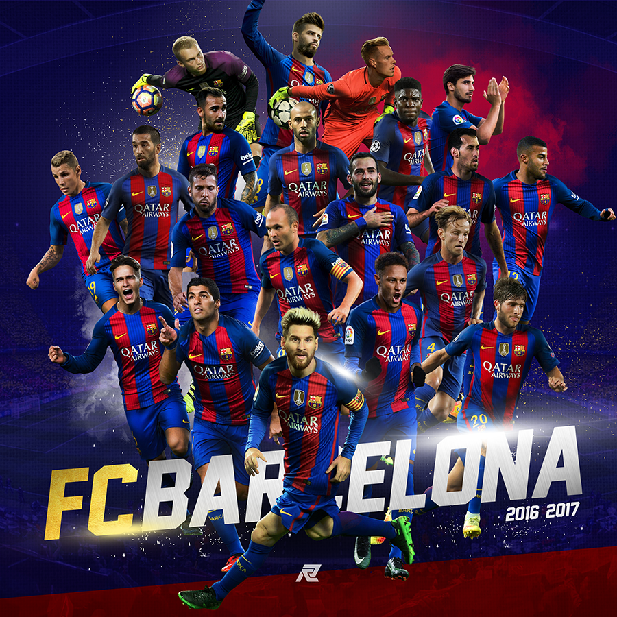 2016-2017 FC Barcelona Posters on Behance