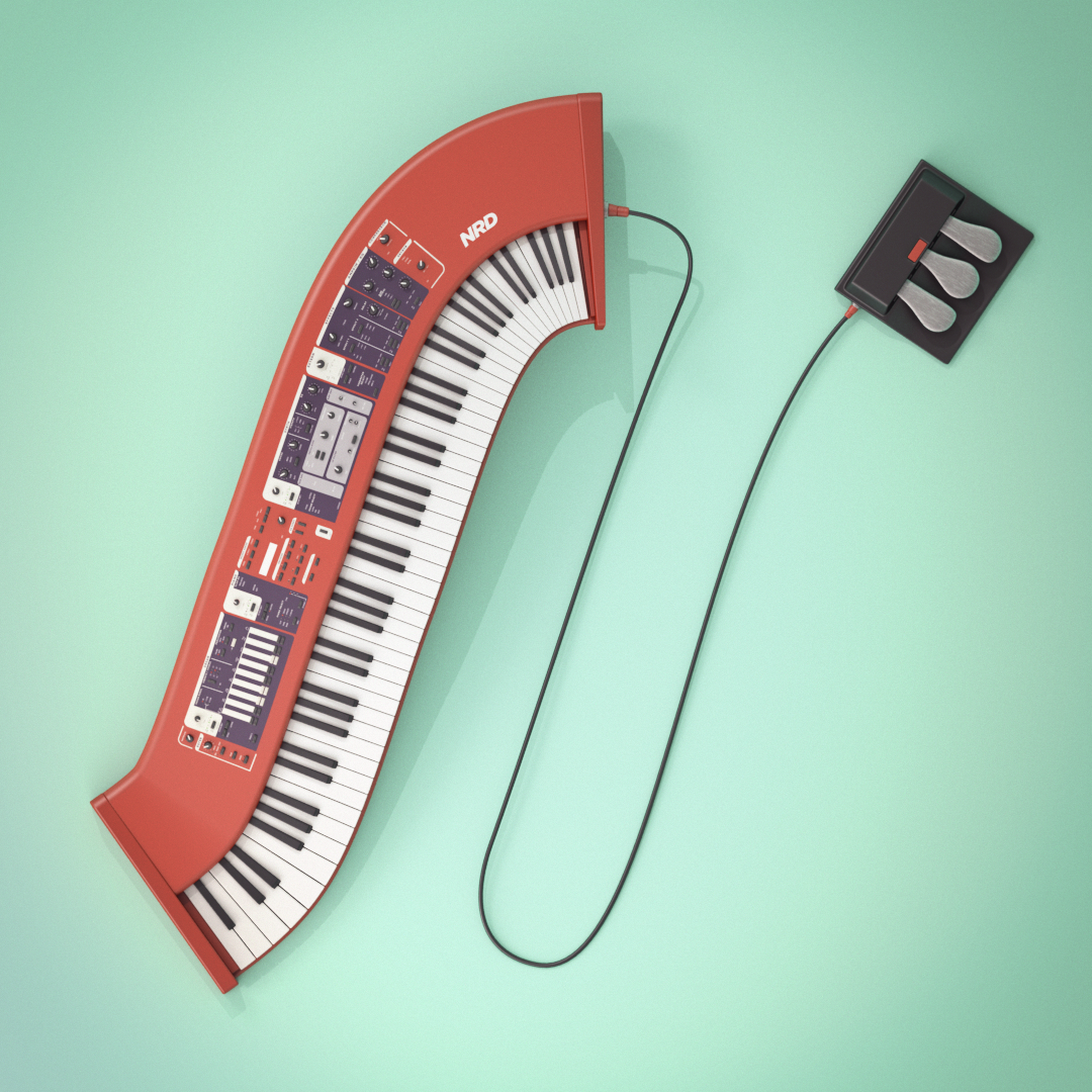 36daysoftype,letters,Synthesizers,buidlings,3D,lettering,daily,Renders