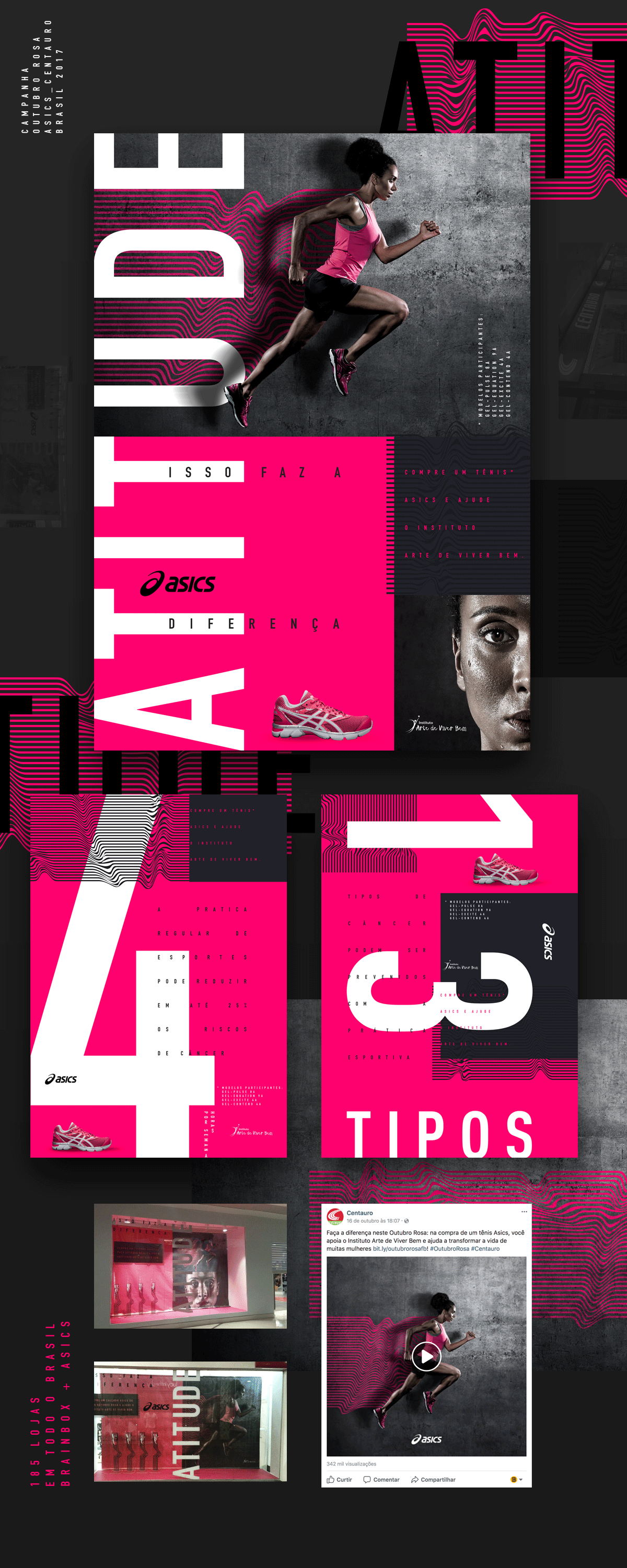 112e8b3d951 Asics – Pink October Campaign on Behance