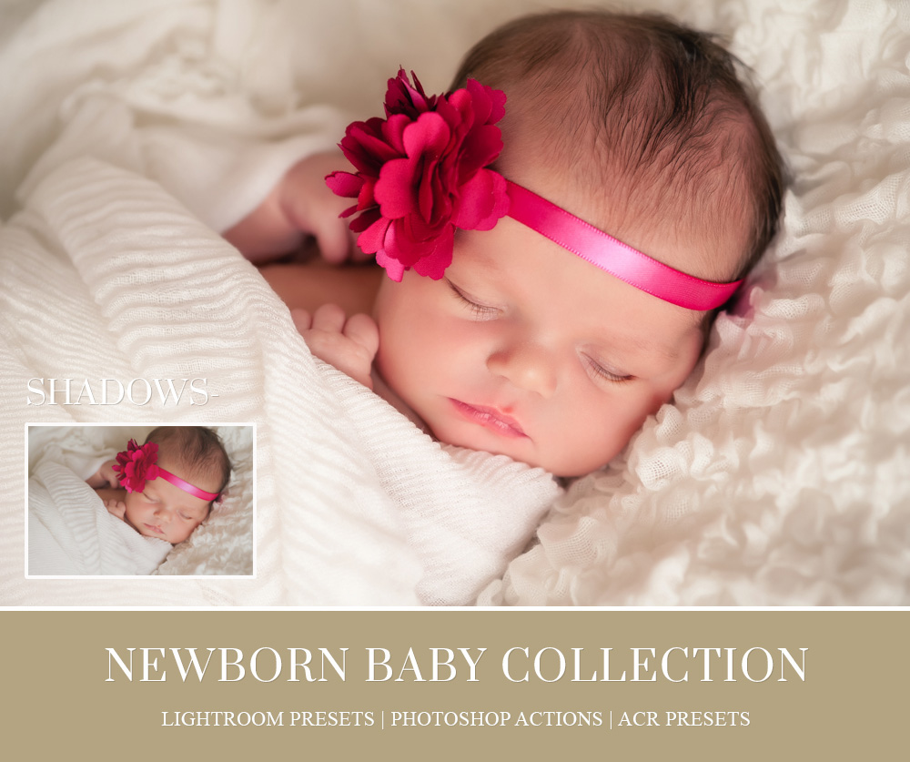 Each preset has been created to ease your retouching needs achieve creamy skin tones softens lines and create dreamy black and whites suitable for newborn