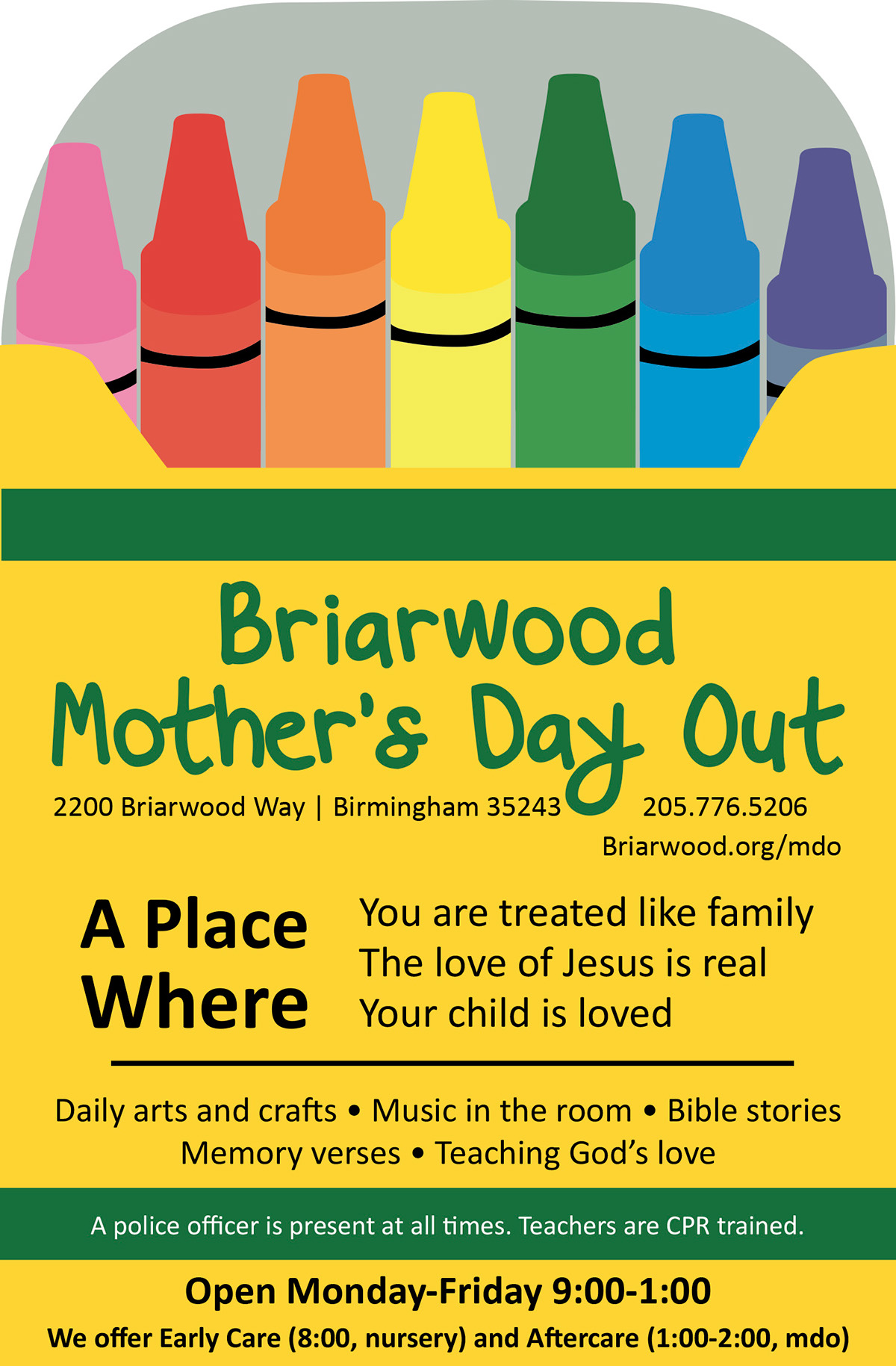 ad design on behance 1 4 page ad for briarwood mother s day out a church daycare