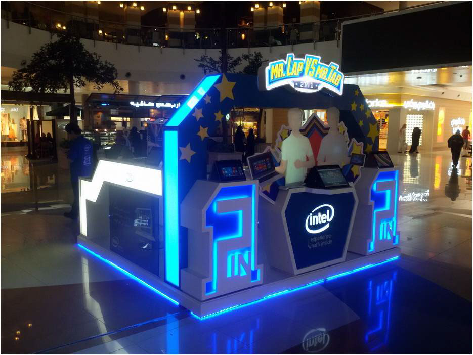 Exhibition Stand Game : Intel in creative exhibition stand on behance