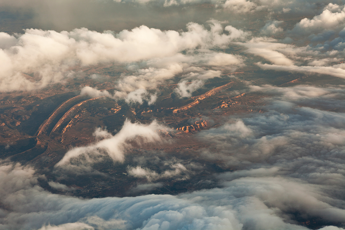 Aerial Landscape Nature clouds above structure abstract contemporary germany france usa mongolia Italy
