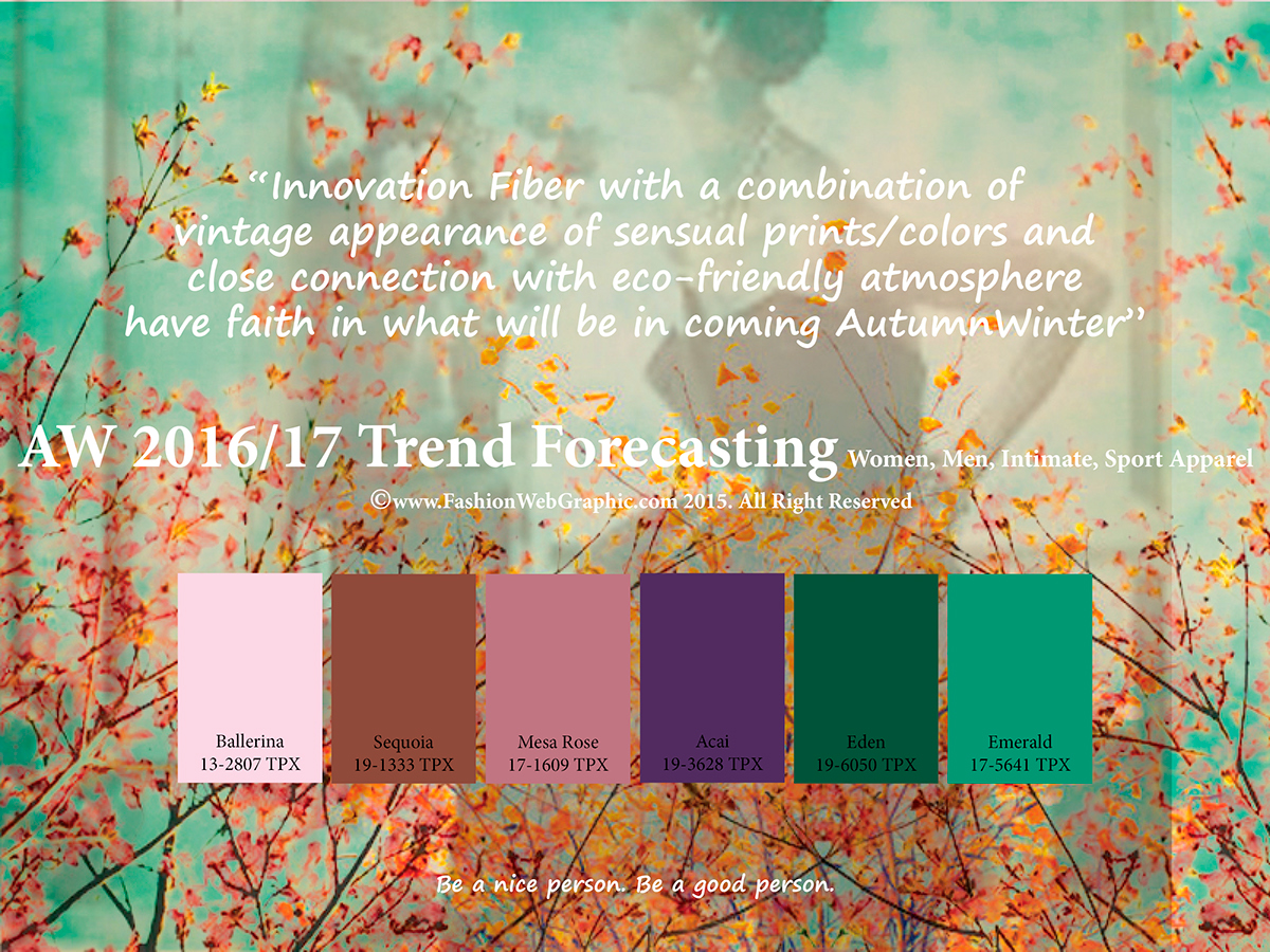 Aw2016 2017 trend forecasting on behance - Trend wandfarben 2017 ...
