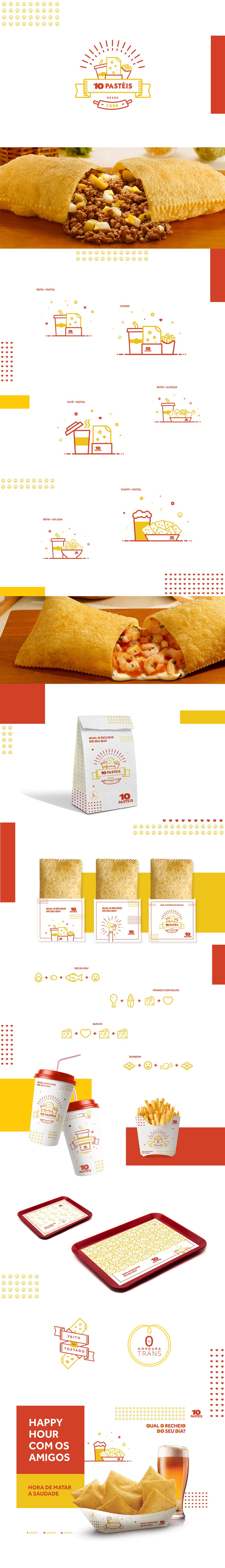 Food  brand fast ILLUSTRATION  identidad identity ilustracion 10pasteis brands branding
