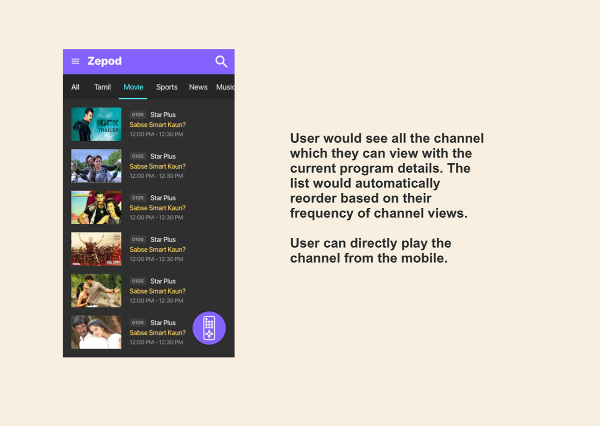 Smart Remote App for TV SetTop Box on Student Show