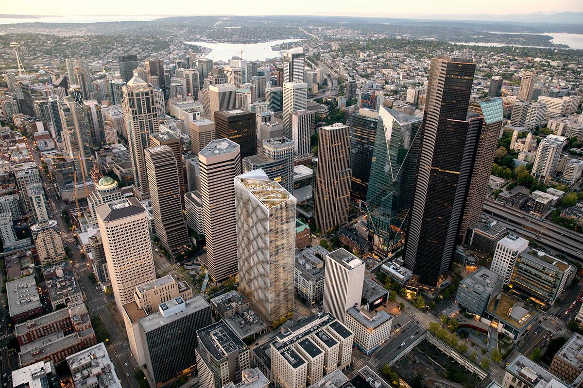 seattle nbbj motiv motyw visualization rendering CGI architecure tower skyscraper