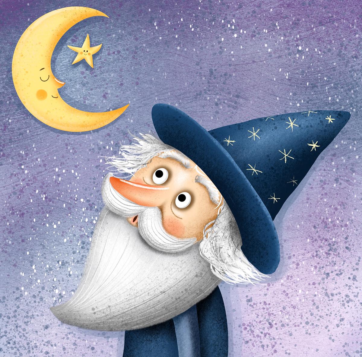 čaroděj Character children childrensbook Childrensillustration cute dětská ilustrace kids sluníčko wizard