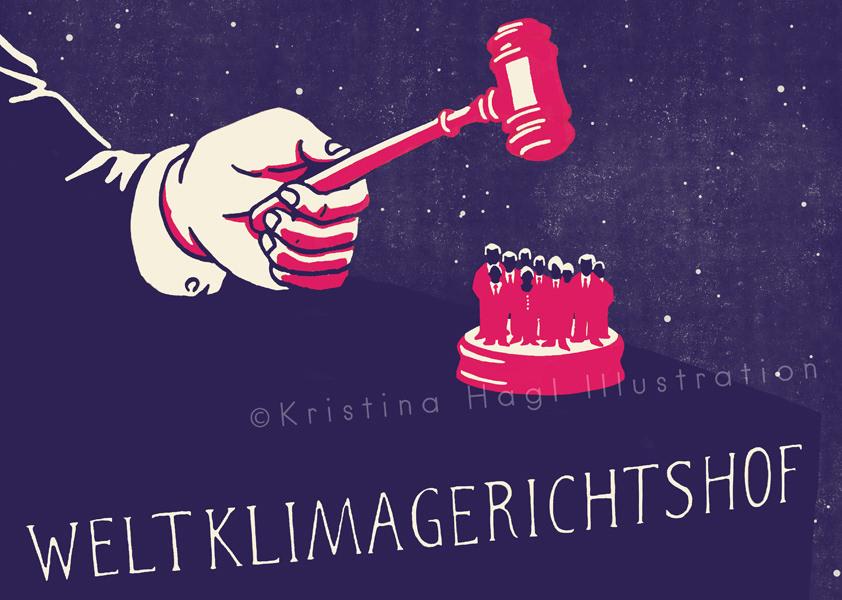 ILLUSTRATION  Editorial Illustration cover illustration climate change klimawandel global climate  tribunal court GERICHT gerichtshof