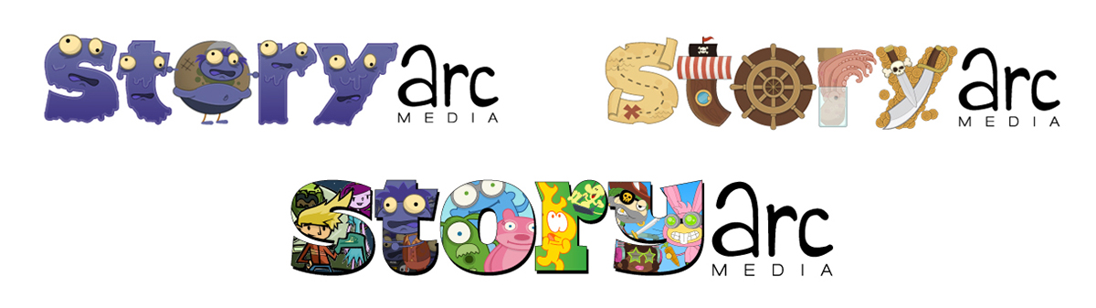 logo branding  kids Logo system ILLUSTRATION  Edutainment process graphic design  Logo Design
