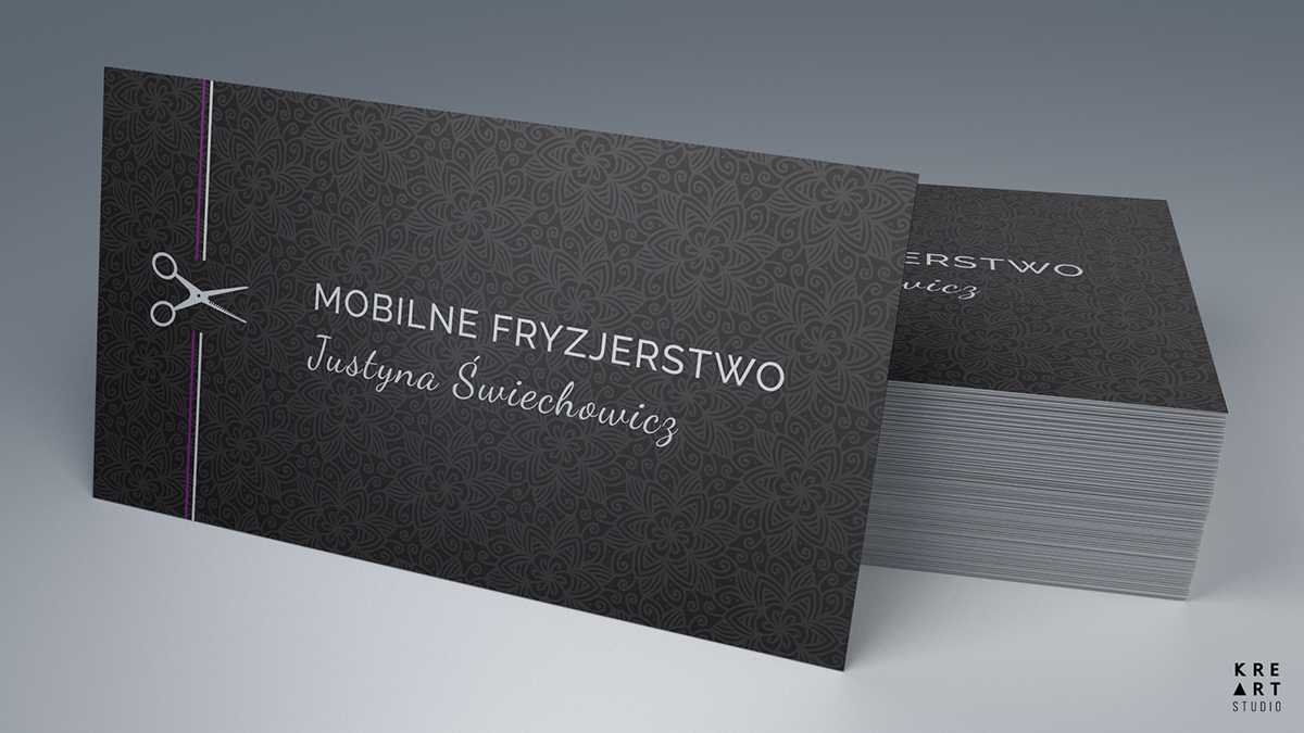 Mobilne Fryzjerstwo - business cards, leaflets on Behance