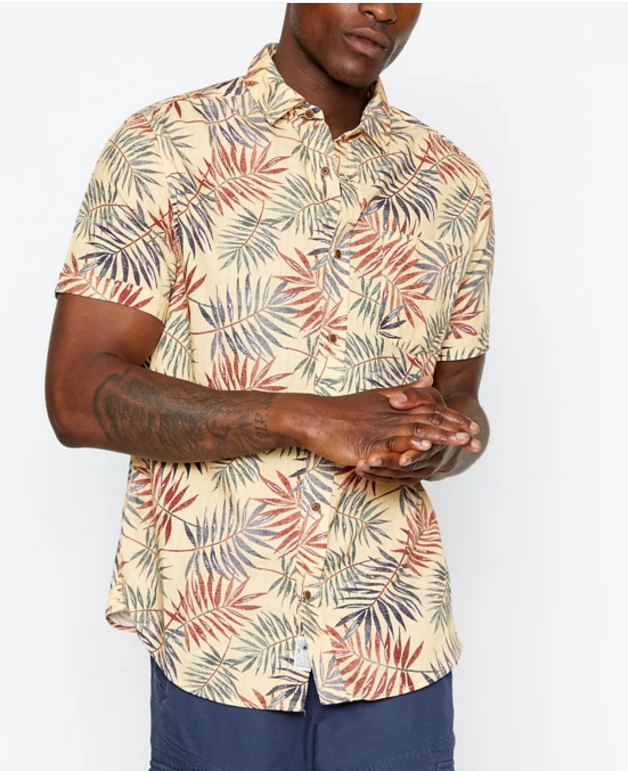 Big leaves prints Menswear collections shirsts printer