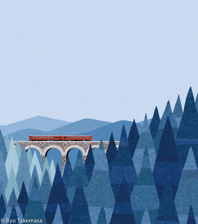 bridge forest Landscape mountains railroad railway train woods