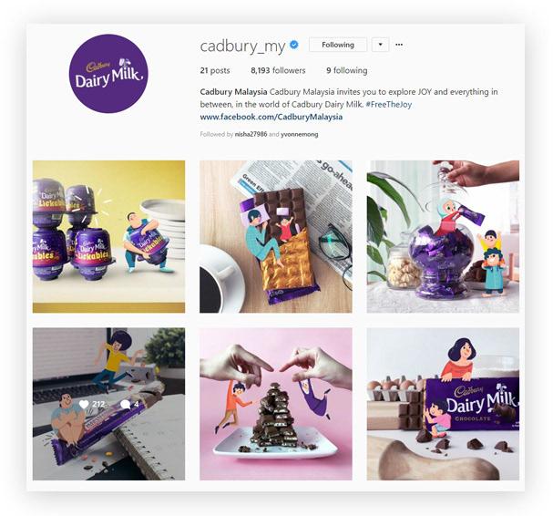 Cadbury chocolate moments joy social media happiness raya mothers