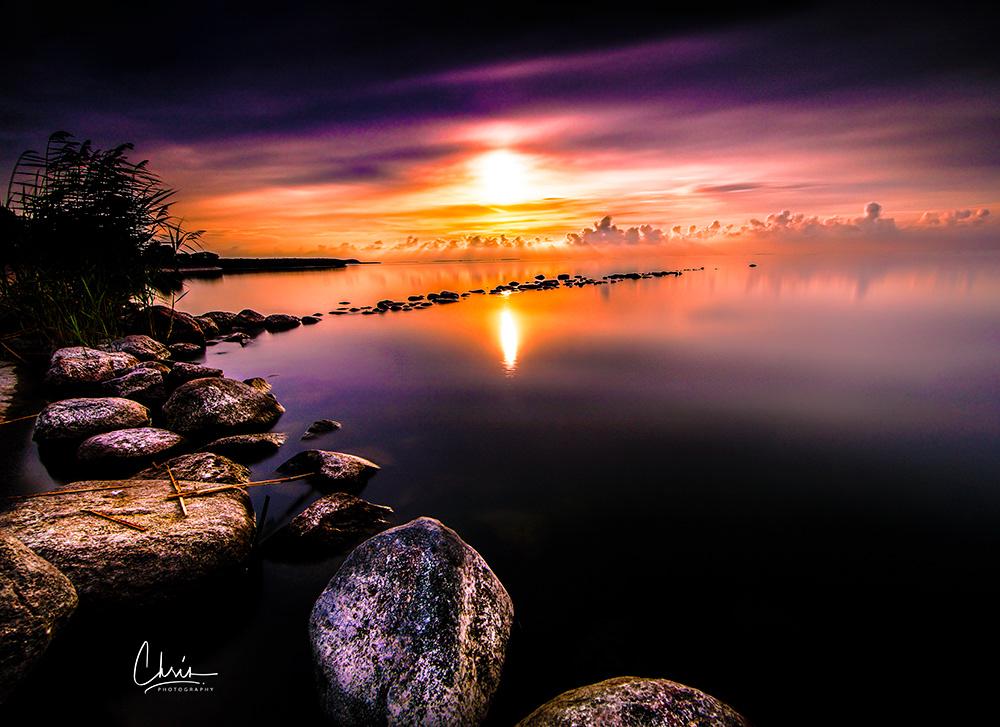 Image may contain: lake, water and sky