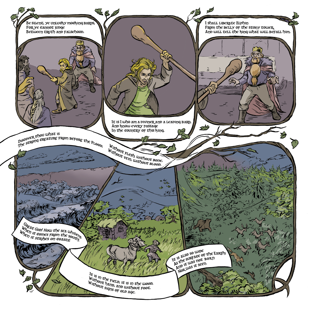 comic,folktale,ILLUSTRATION ,digital colouring,inking,Graphic Novel