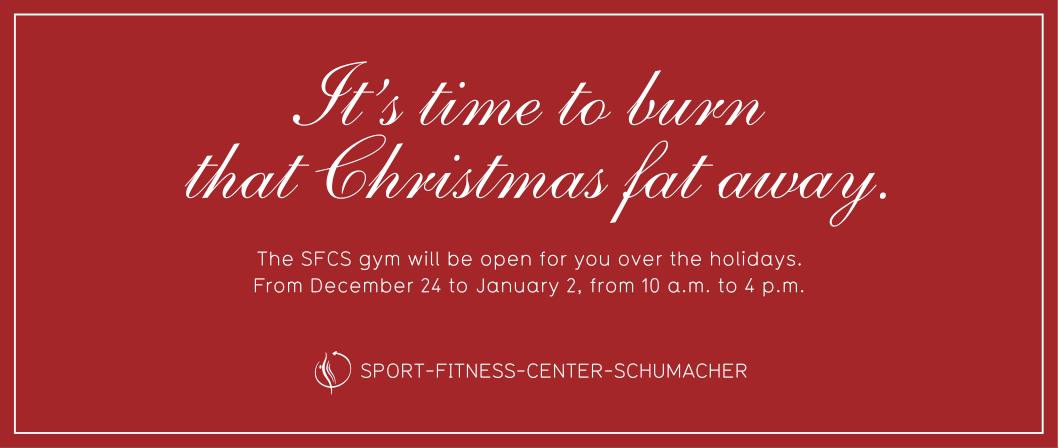 christmas mailing sport fitness center on behance