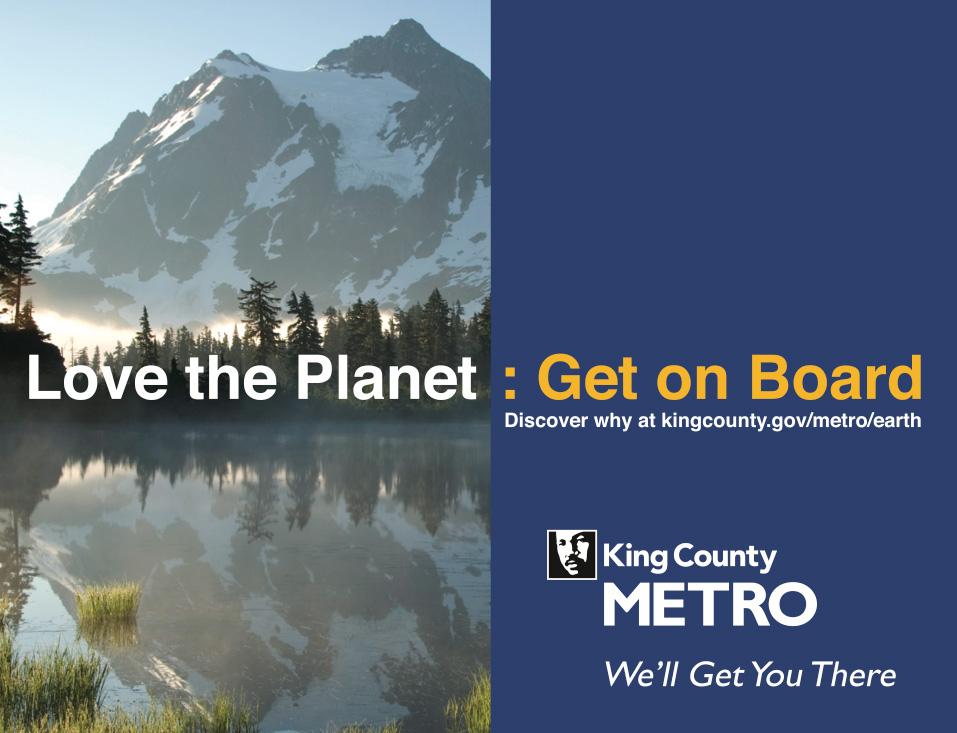 King County Metro buss billboards bussboards