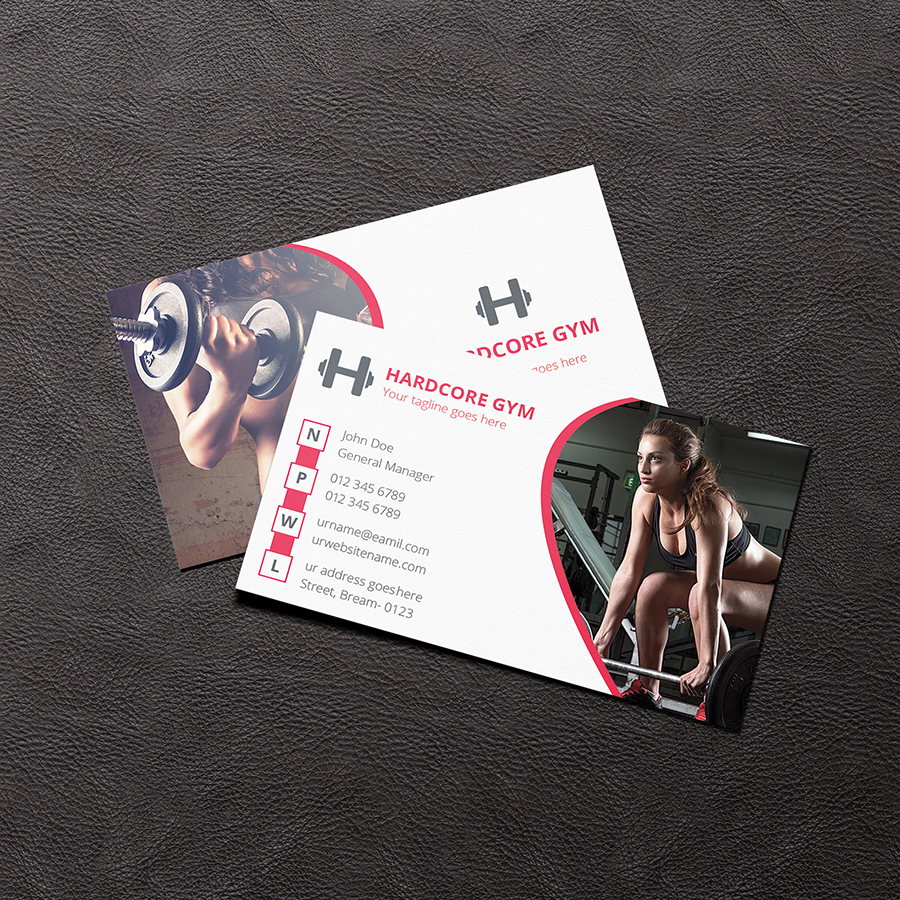 Gym business card on Behance