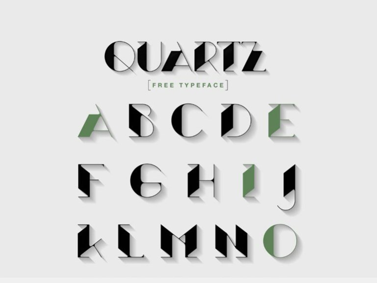 Quartz : Free Art Deco Font on Behance