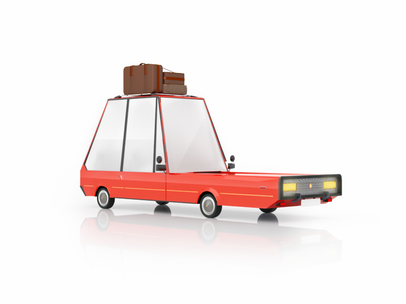 cartoon car free 3d model on behance