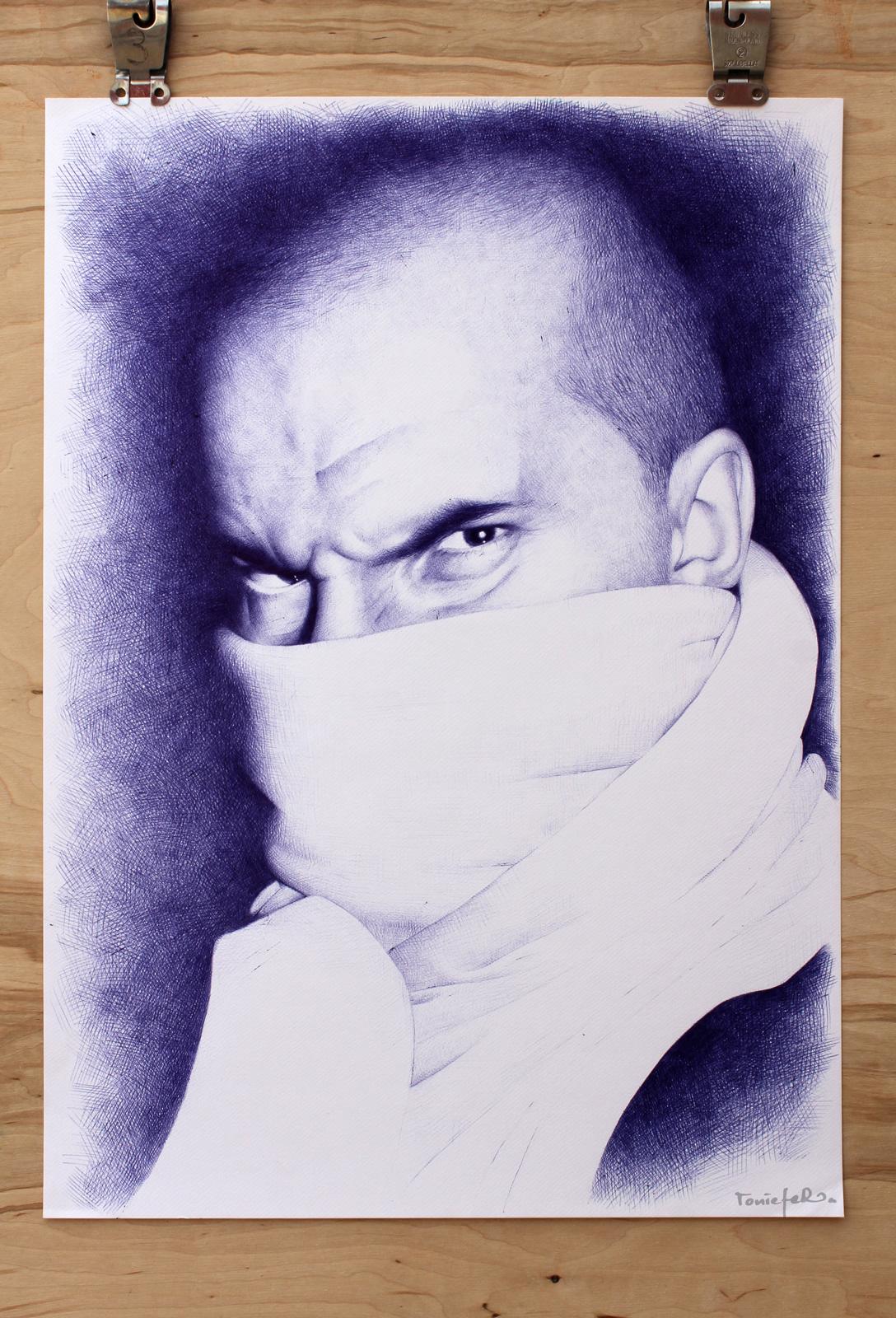 ballpoint pen on paper - ToniEfer
