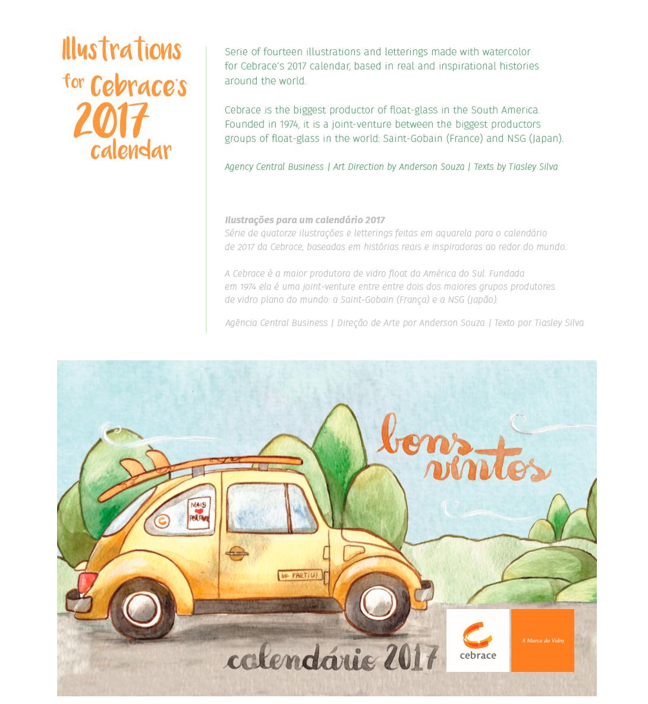 Calendario 1974.2017 Cebrace Calendar On Behance