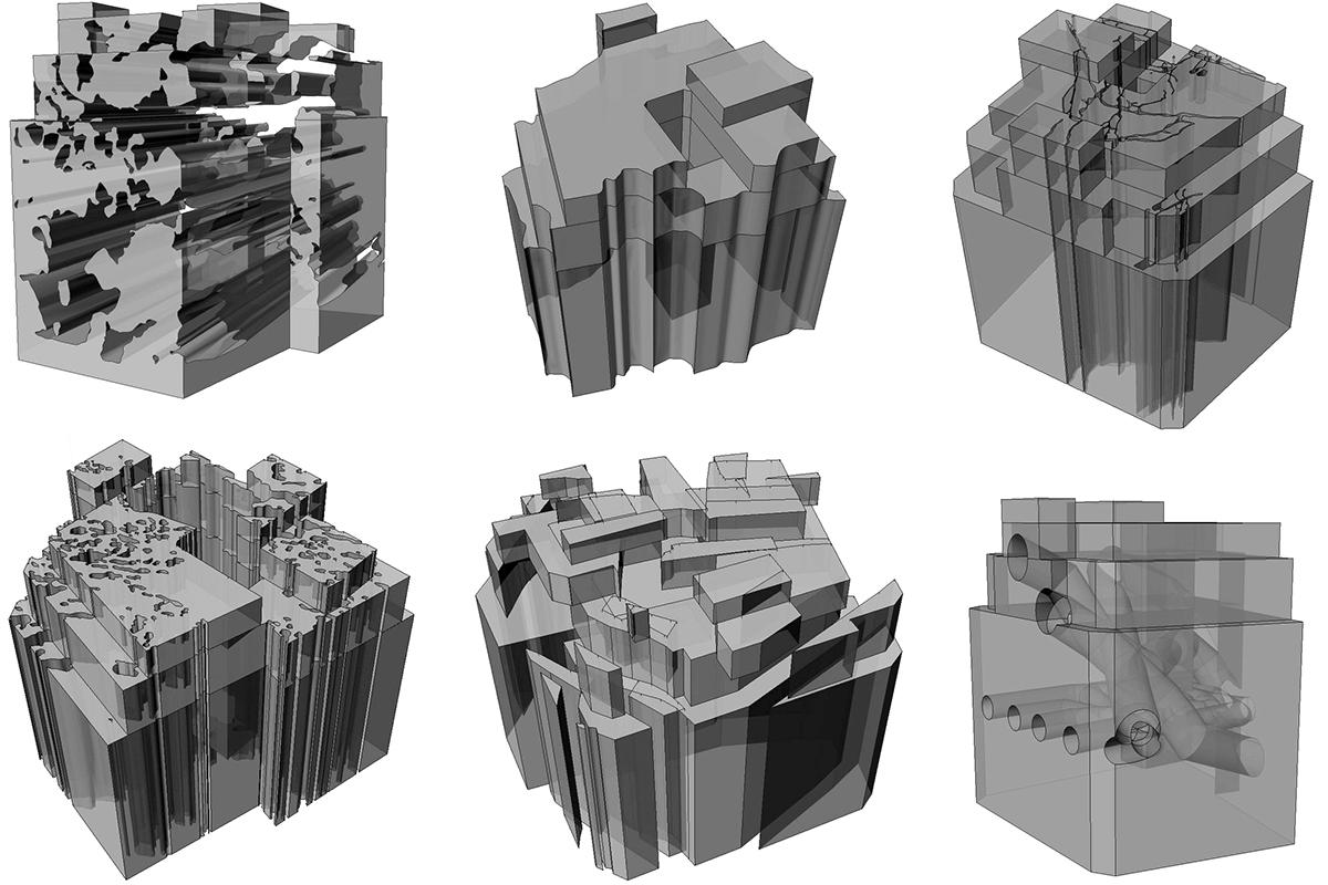 Render volumetria vista Perspectiva view 3D