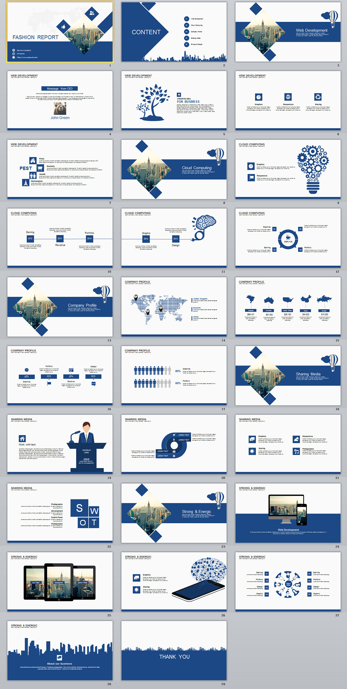 29 Blue Fashion Report Powerpoint Templates On Behance