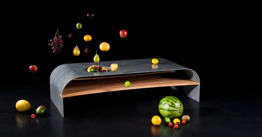 Paulsberg Habitat   Concrete Coffee Table »Fruits«