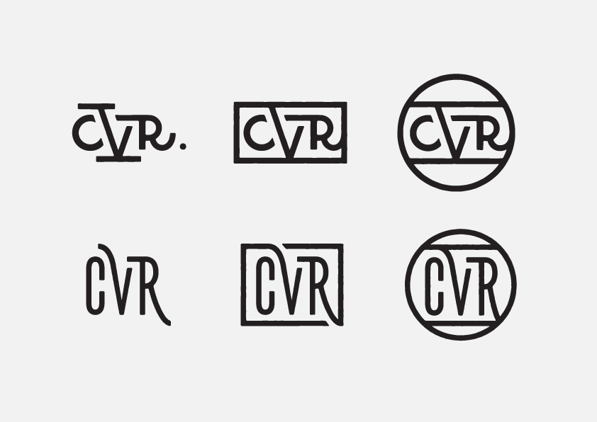 Lable badge monogram lettering type identity street wear brand logo Logotype Layout design tag