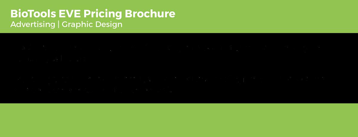 biotools eve pricing brochure on behance
