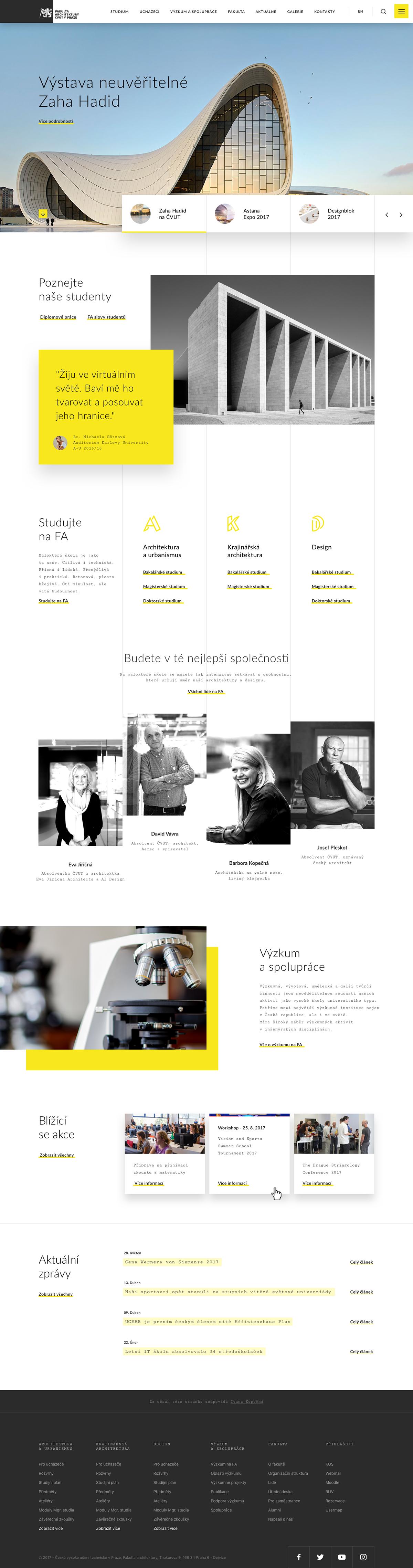 ui design,UX design,Webdesign,interaction,architectur,Minimalism,sdmk,CVUT,University,technical